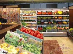Regały chłodnicze na warzywa i owoce oraz wyspy i regały warzywne Producent ABM
