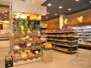 Stoisko na warzywa i owoce idealne do sklepy ekologicznego - realizacja ABM