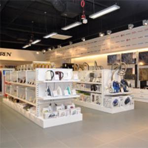 Gondole sklepowe w sklepie branży AGD