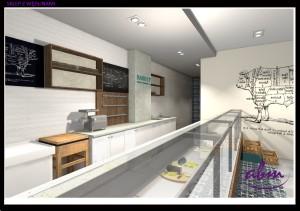 Standardowe urządzenia chłodnicze i meble na zamówienie - projekt sklepu ABM