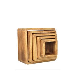 Kostki drewniane