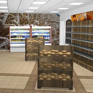 Wizualizacje sklepu spożywczego