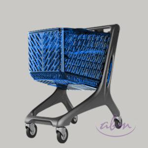 Wózki sklepowe niebieskie