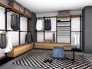 przechowywać ubrania w garderobie